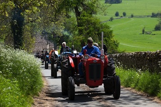 Bluebell Tractors Take to the Road